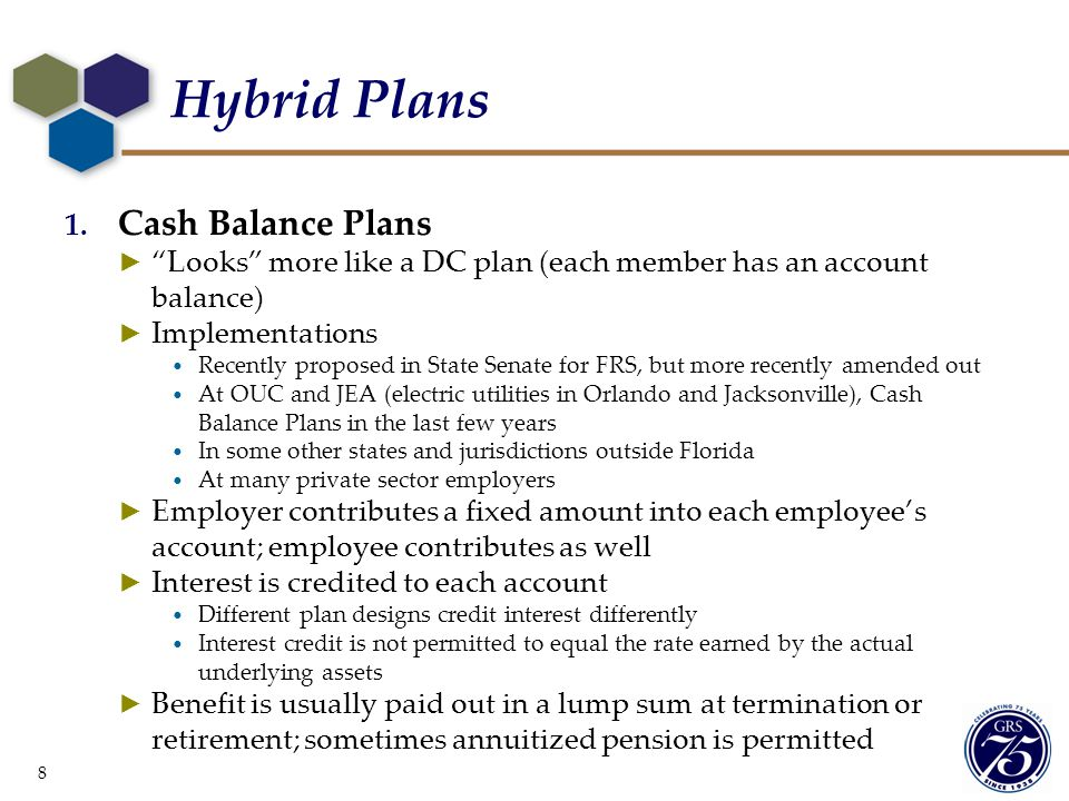 Hybrid Plans Cash Balance Plans