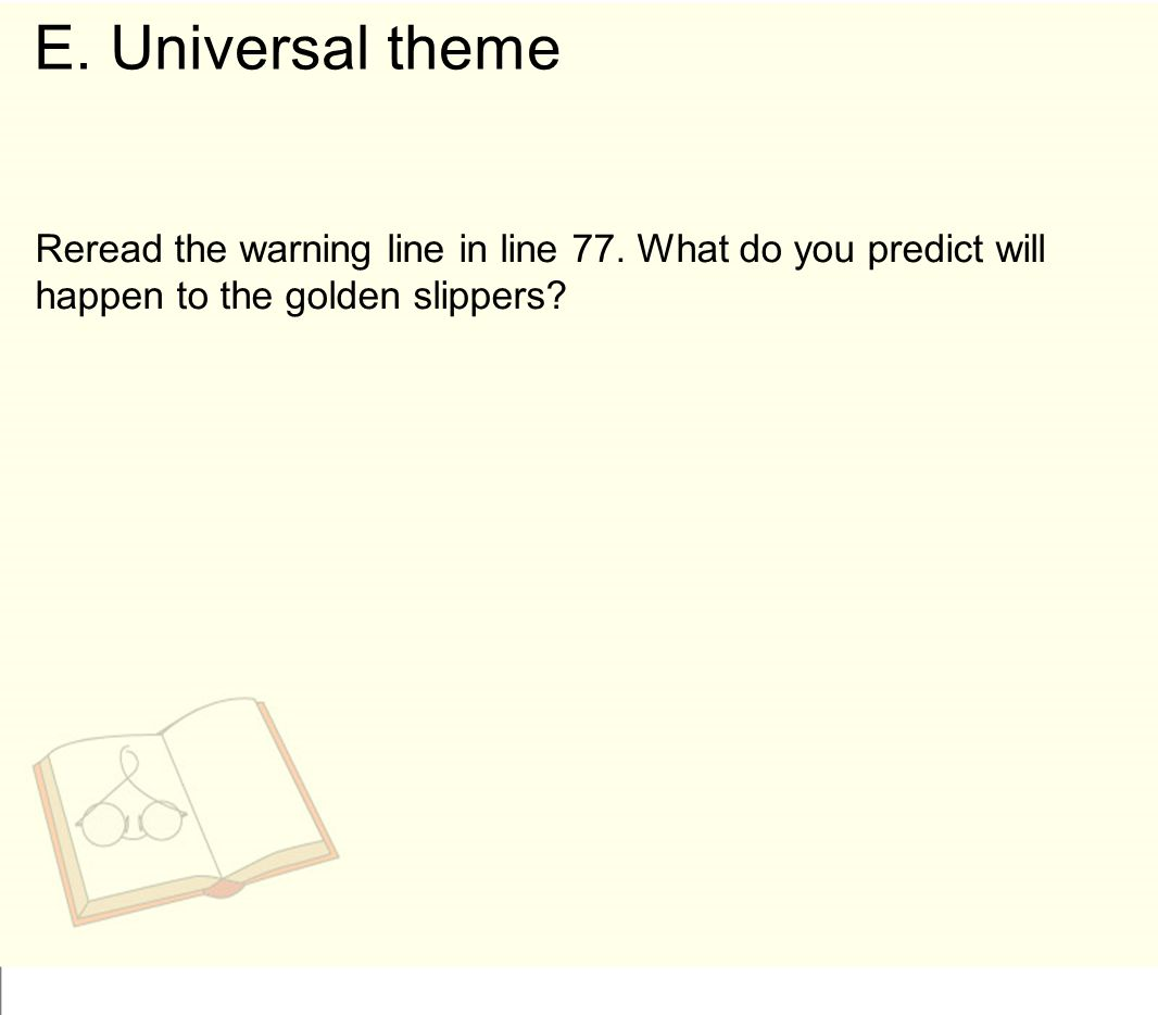 E. Universal theme Reread the warning line in line 77.