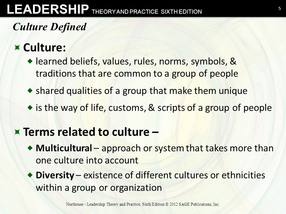 Terms related to culture –