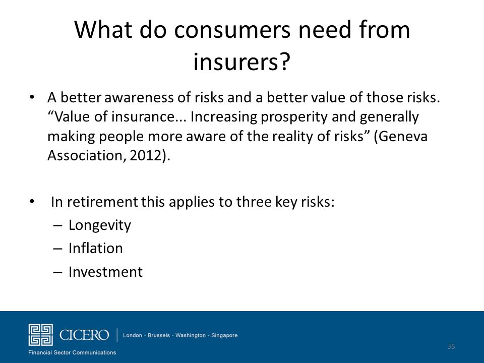 What do consumers need from insurers