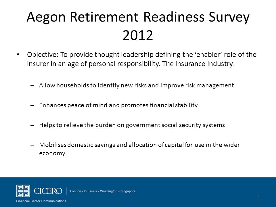 Aegon Retirement Readiness Survey 2012