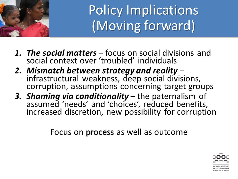 Policy Implications (Moving forward)
