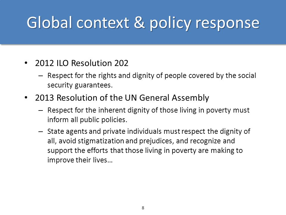 Global context & policy response