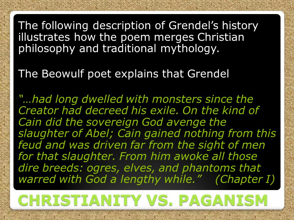 CHRISTIANITY VS. PAGANISM