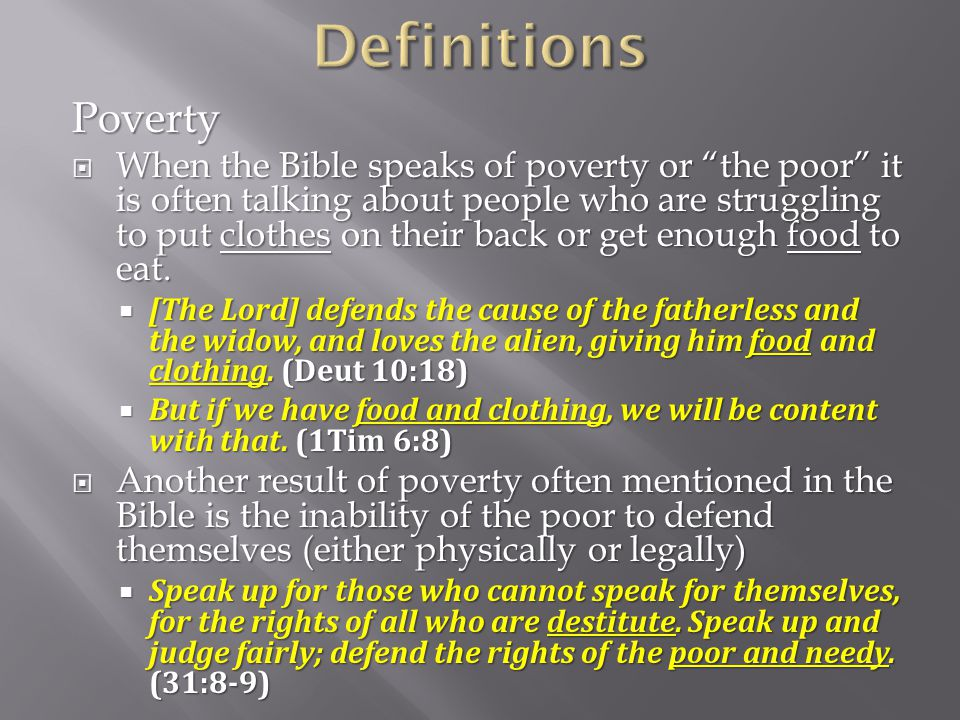 Definitions Poverty.
