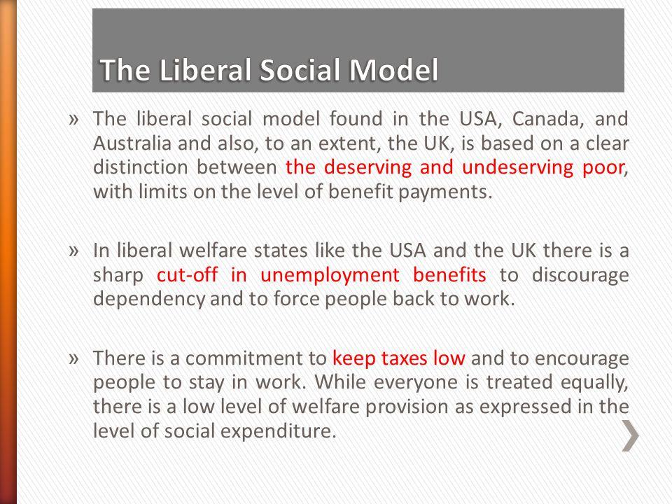 The Liberal Social Model