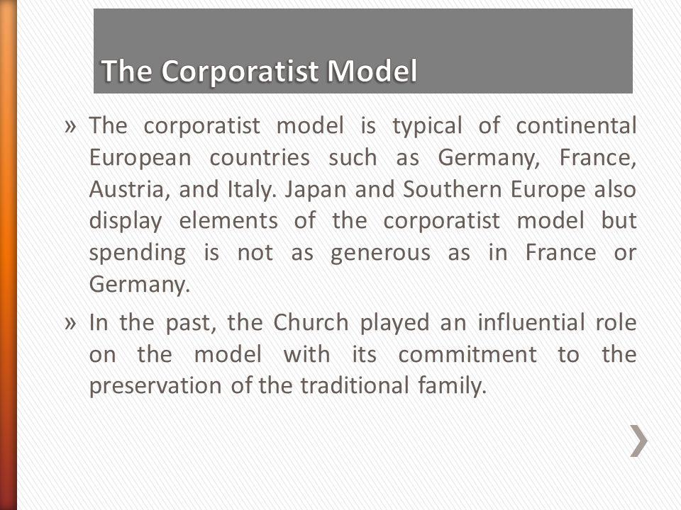 The Corporatist Model