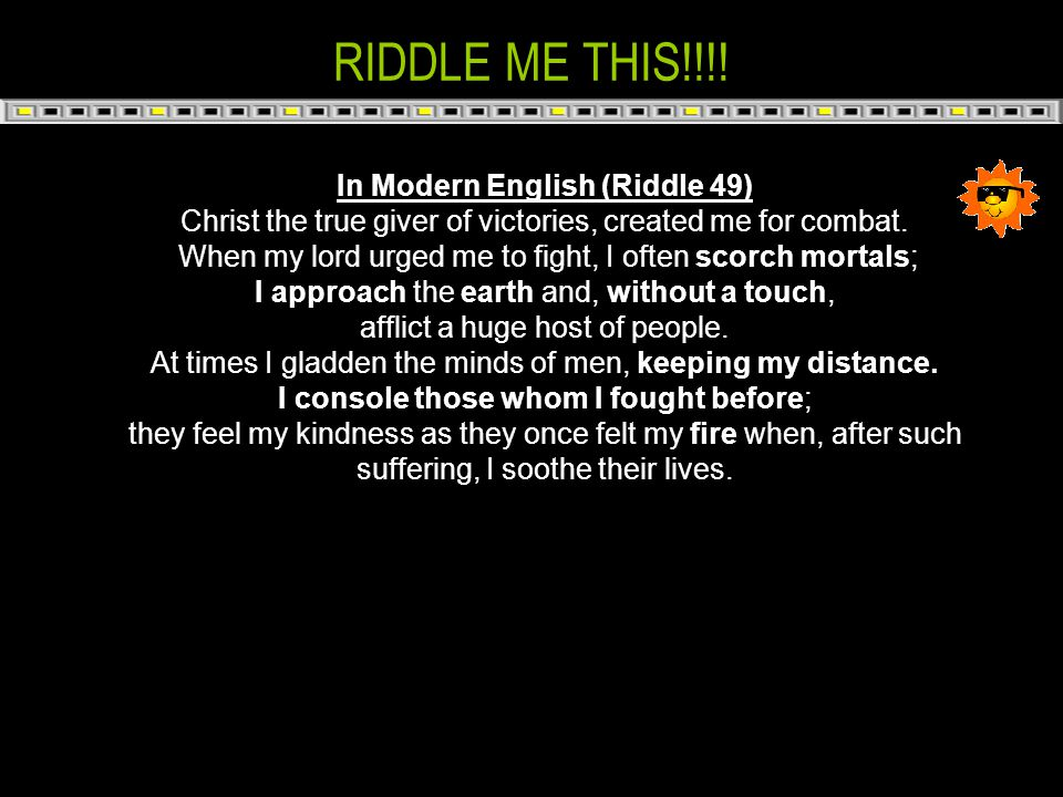 In Modern English (Riddle 49)