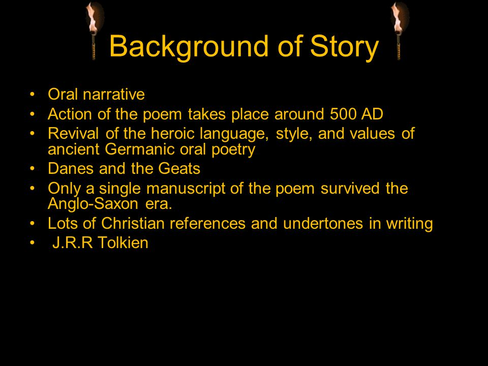 Background of Story Oral narrative