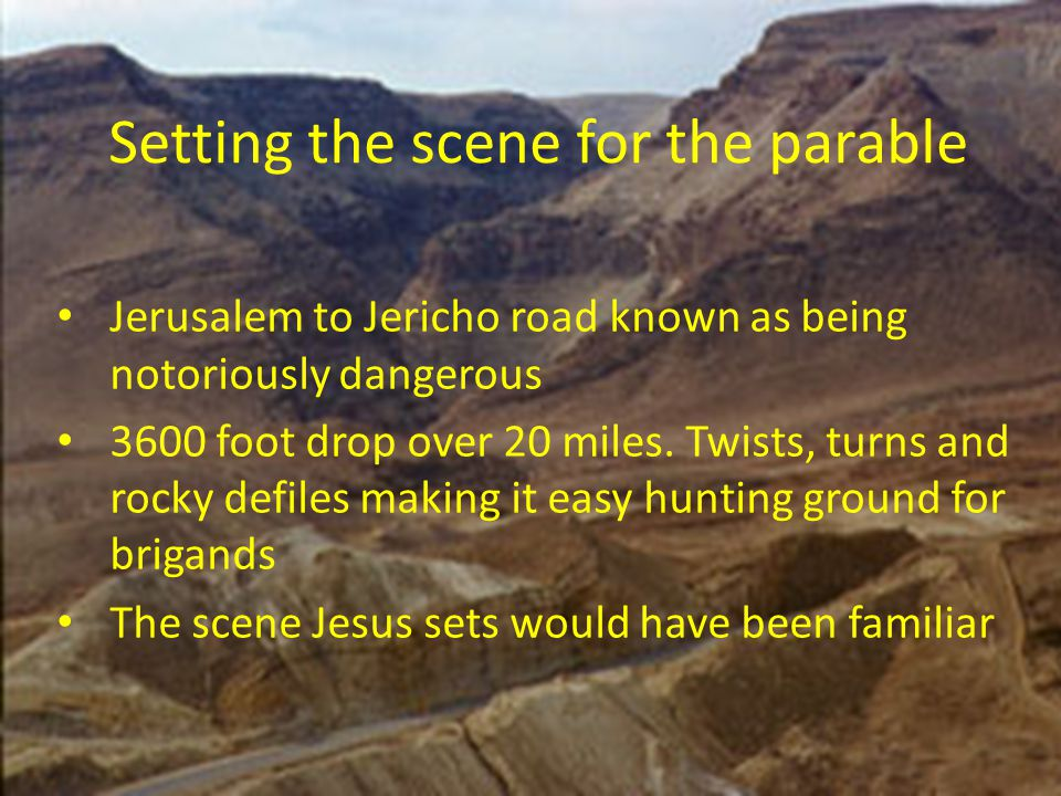 Setting the scene for the parable