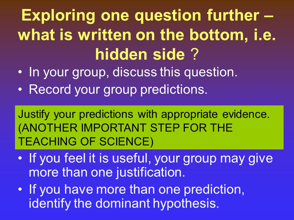 Exploring one question further – what is written on the bottom, i. e