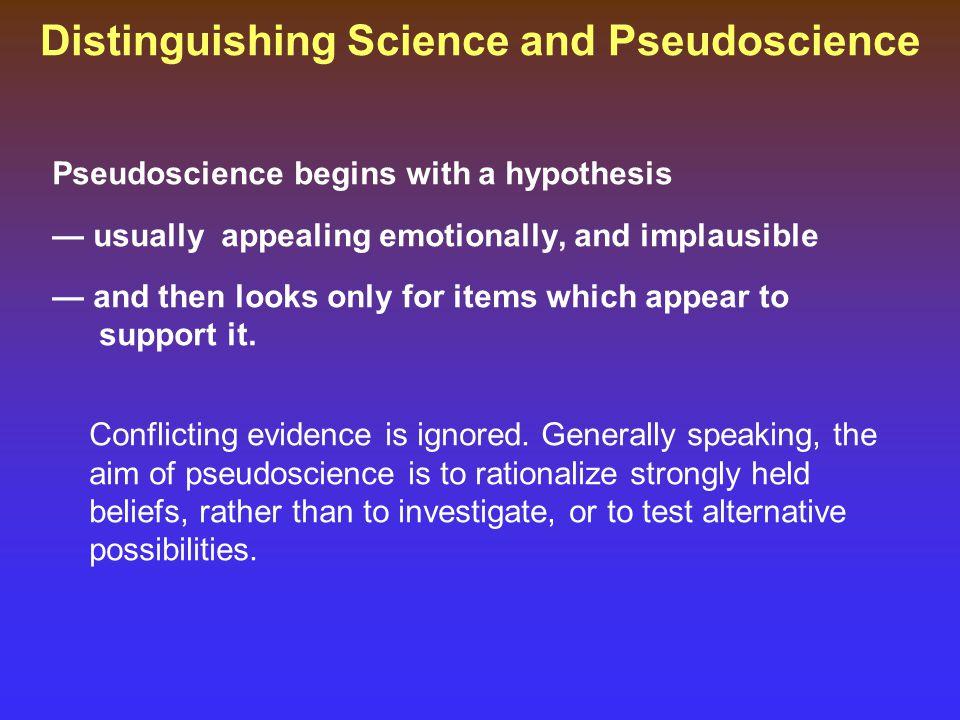 Distinguishing Science and Pseudoscience
