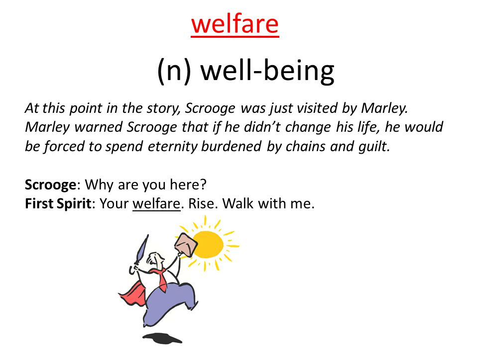 (n) well-being welfare