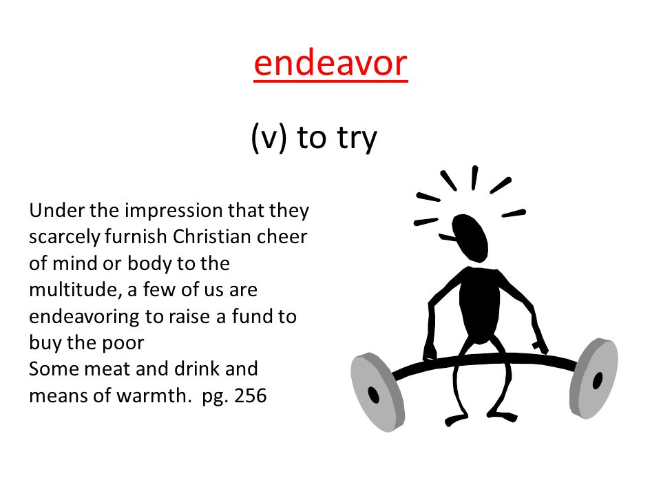 endeavor (v) to try.