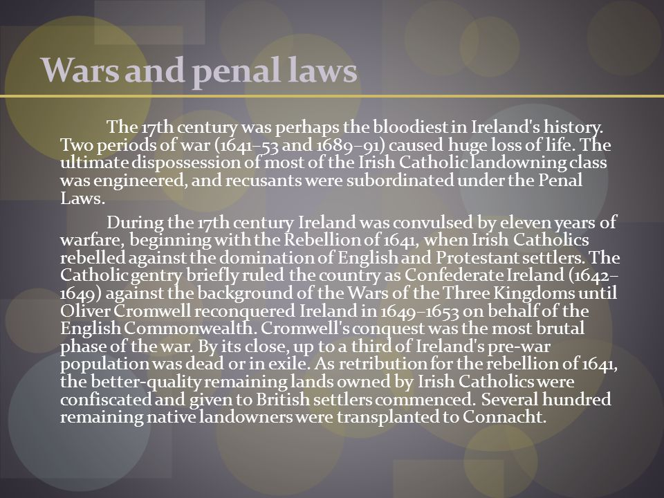 Wars and penal laws