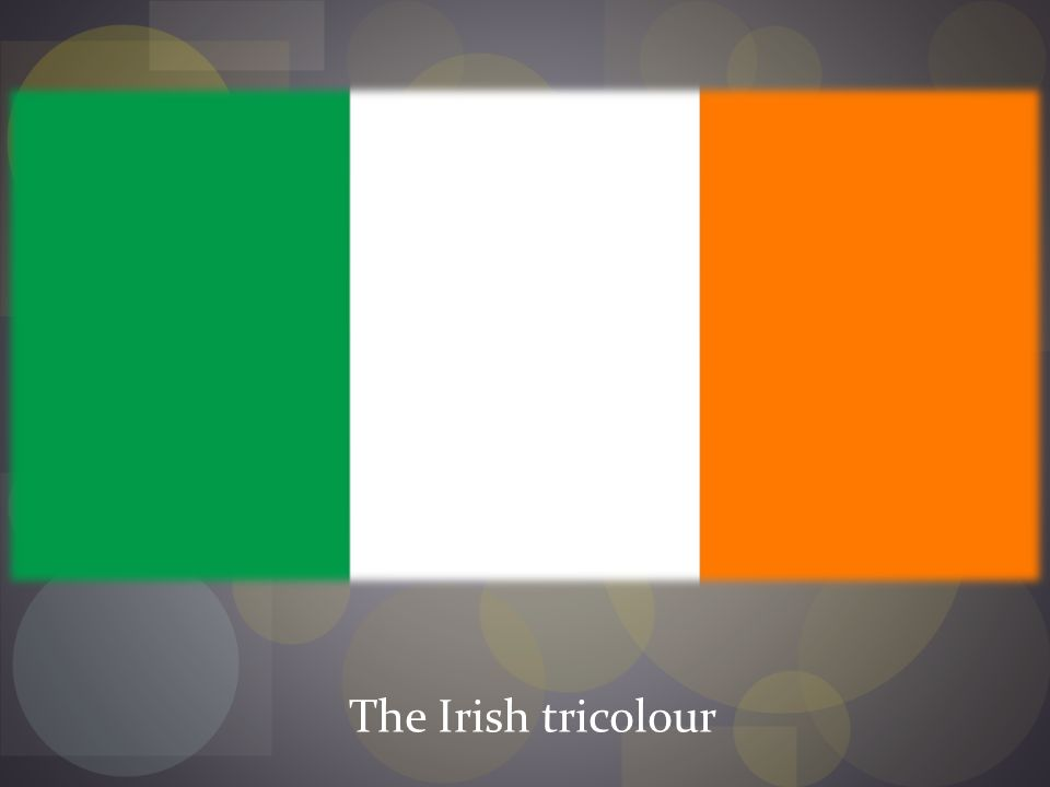 The Irish tricolour