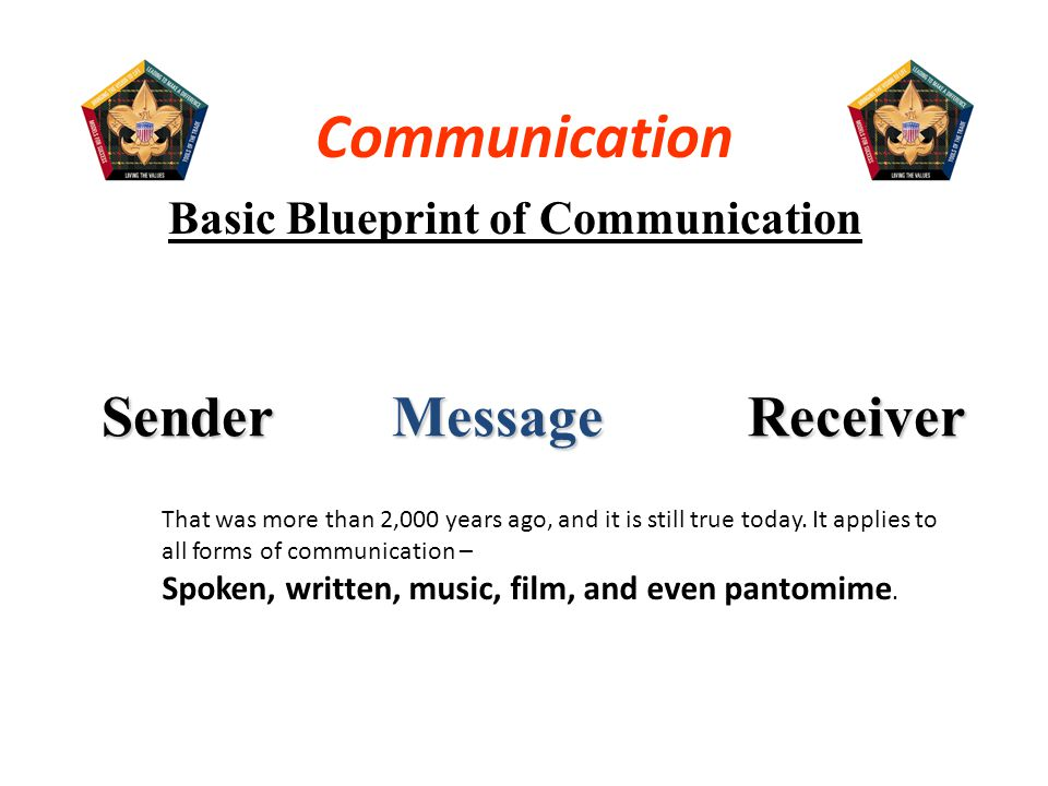 Basic Blueprint of Communication