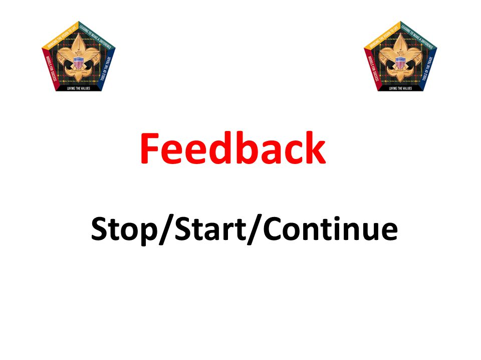 Feedback Stop/Start/Continue