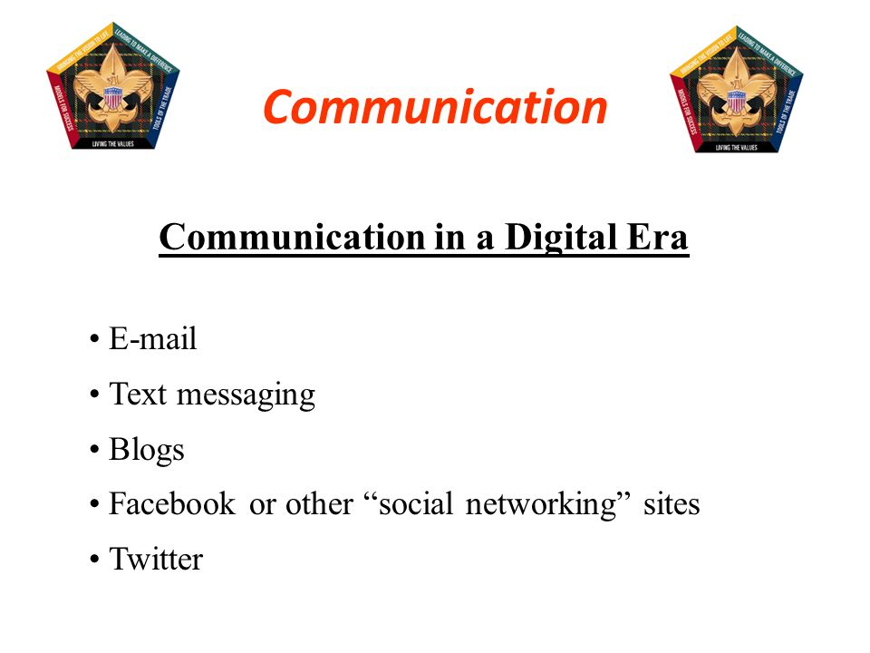 Communication in a Digital Era