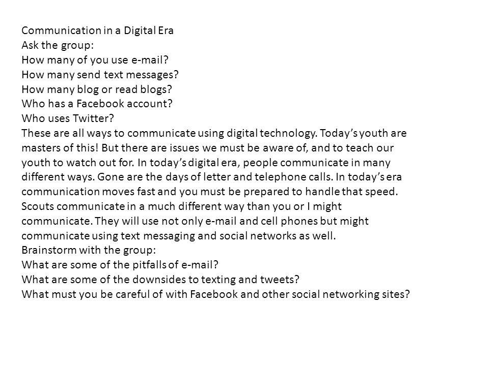 Communication in a Digital Era
