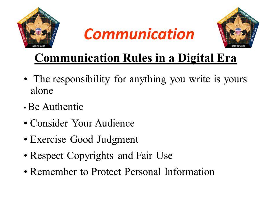 Communication Rules in a Digital Era