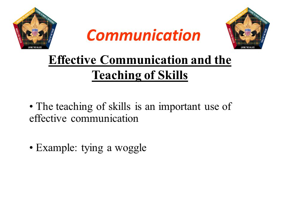 Effective Communication and the Teaching of Skills