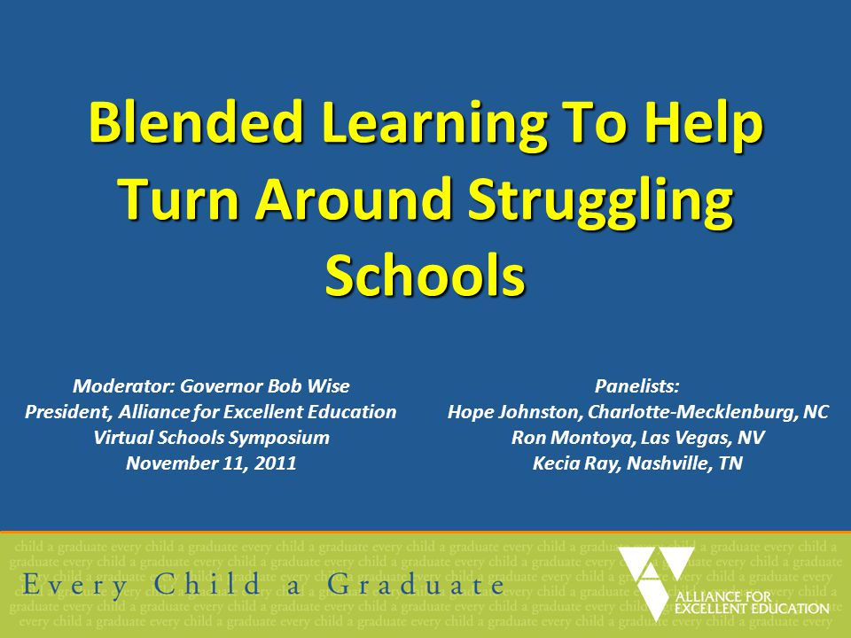 Blended Learning To Help Turn Around Struggling Schools