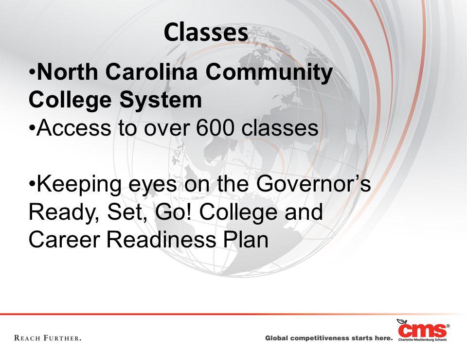 Classes North Carolina Community College System
