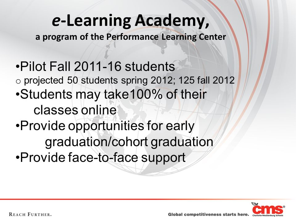 e-Learning Academy, a program of the Performance Learning Center