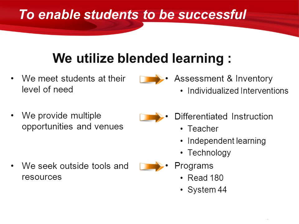 To enable students to be successful