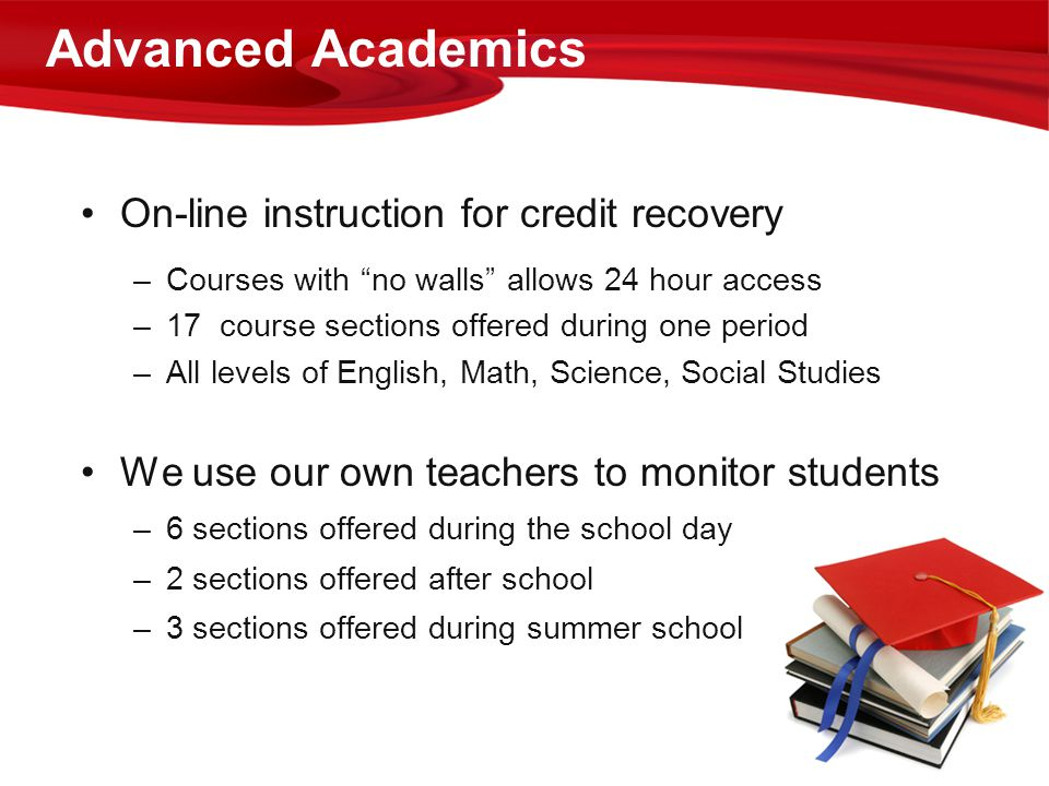 Advanced Academics On-line instruction for credit recovery