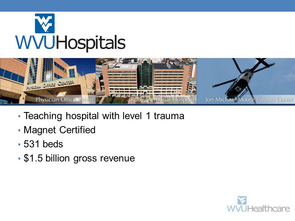 Teaching hospital with level 1 trauma