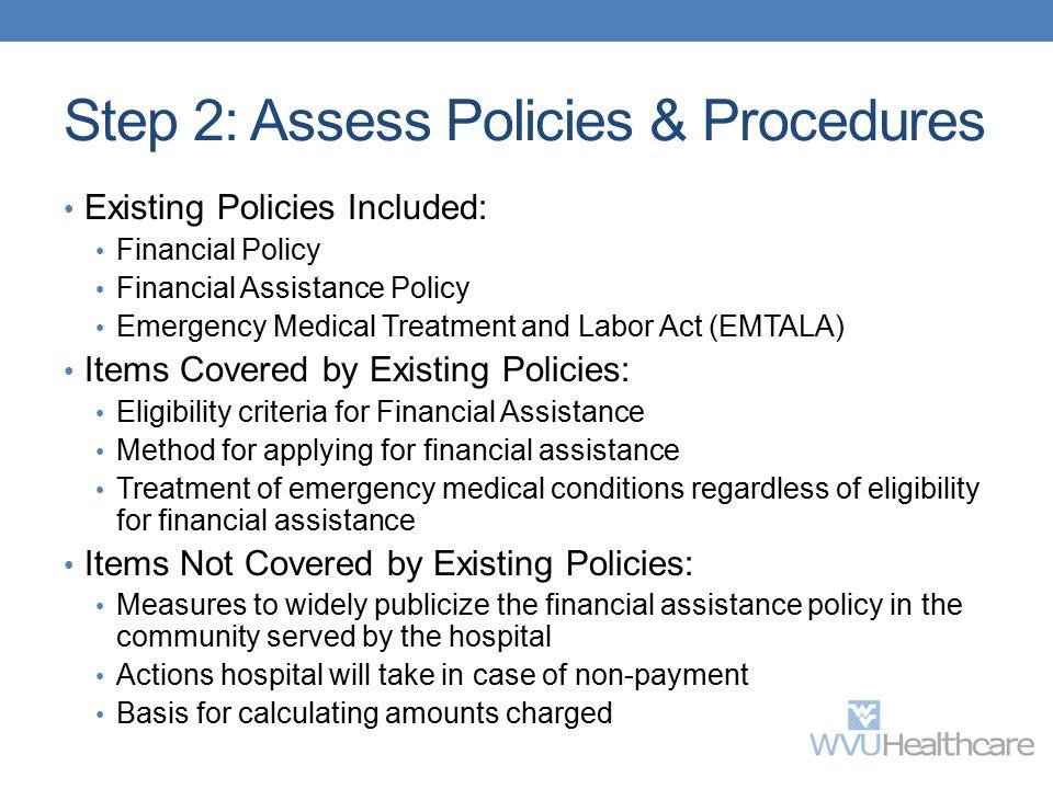 Step 2: Assess Policies & Procedures