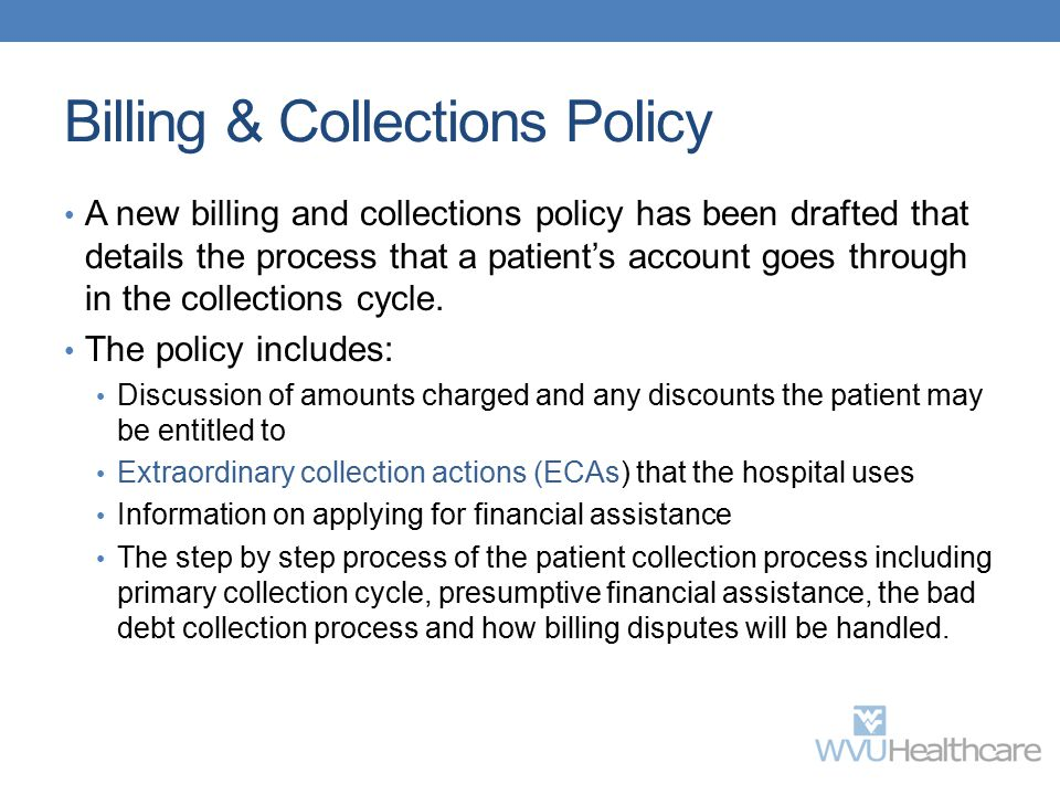 Billing & Collections Policy