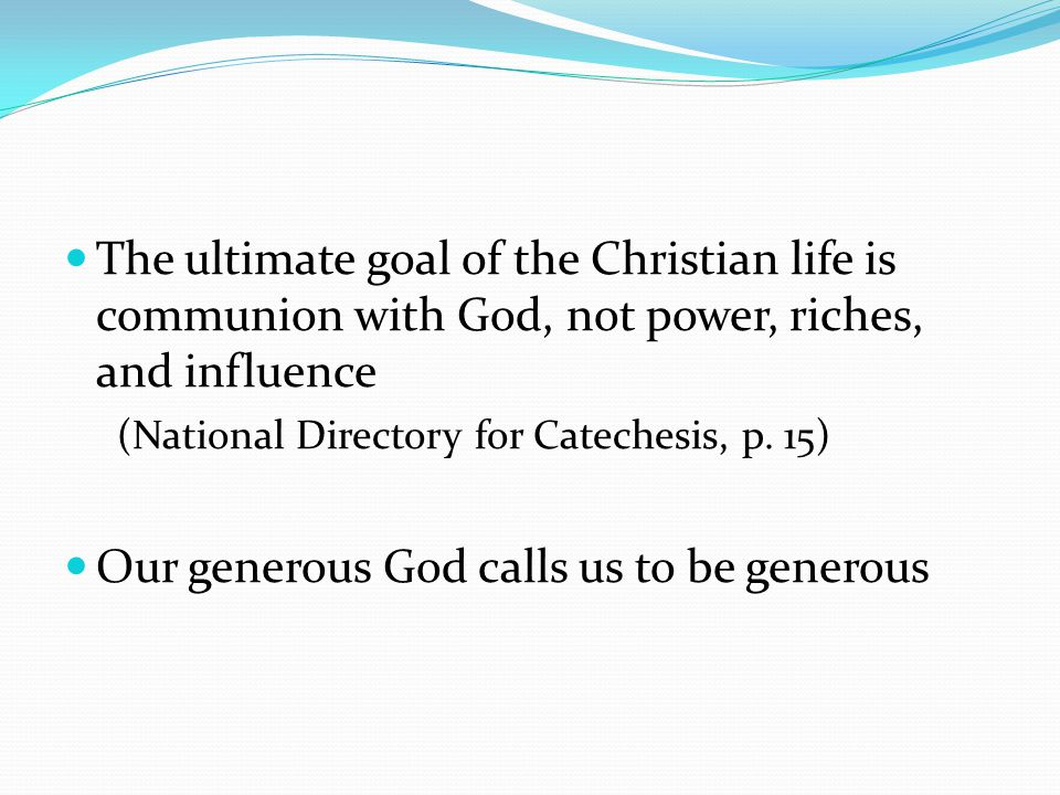 Our generous God calls us to be generous