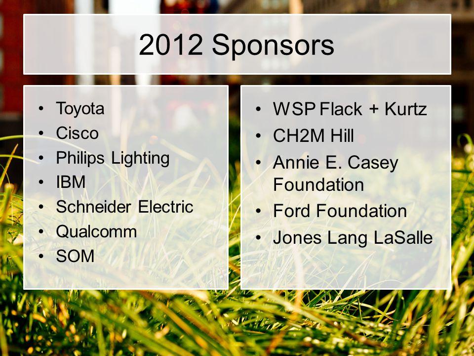 2012 Sponsors WSP Flack + Kurtz CH2M Hill Annie E. Casey Foundation