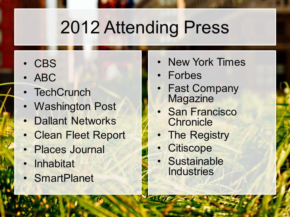 2012 Attending Press CBS ABC TechCrunch Washington Post