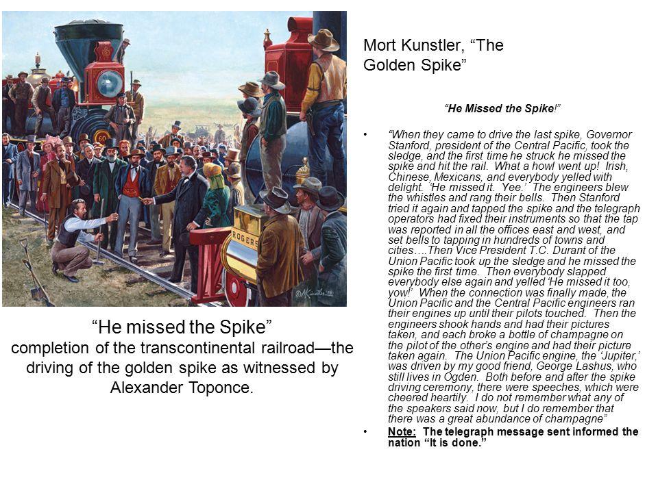 Mort Kunstler, The Golden Spike