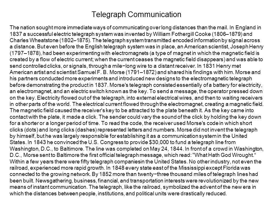 Telegraph Communication