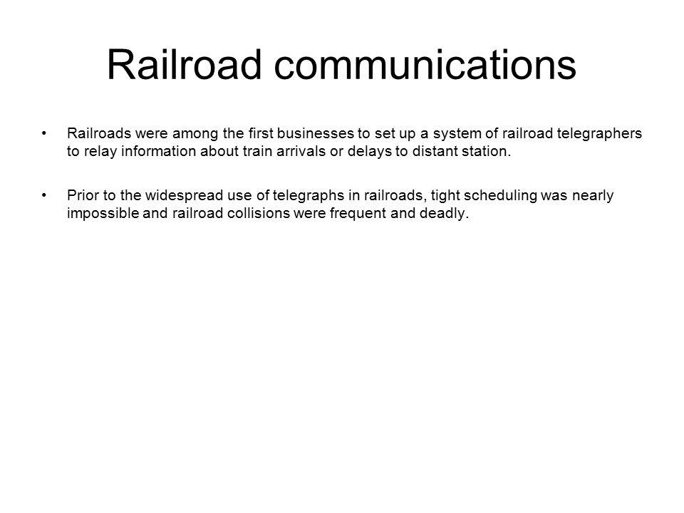 Railroad communications