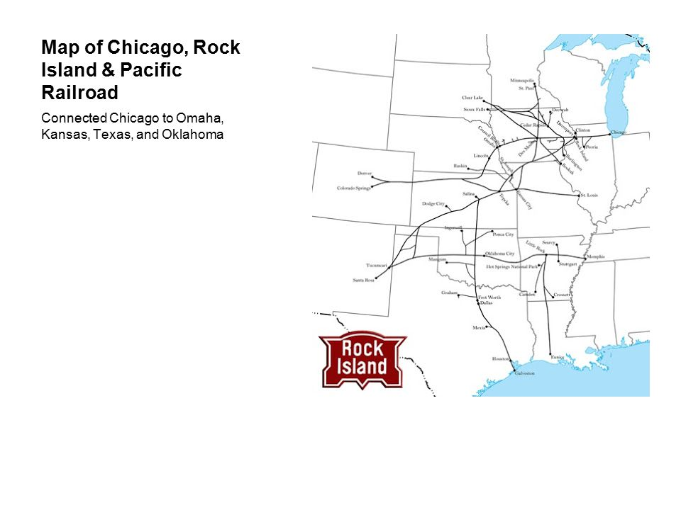 Map of Chicago, Rock Island & Pacific Railroad