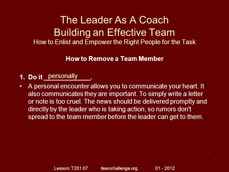 How to Remove a Team Member