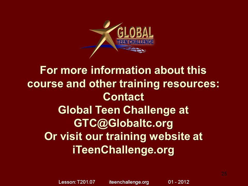 Lesson: T201.07 iteenchallenge.org 01 - 2012