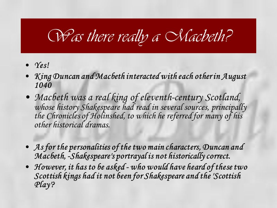 Was there really a Macbeth