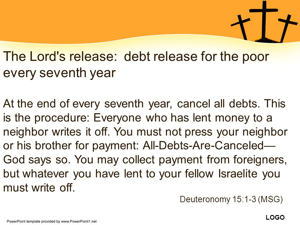 The Lord s release: debt release for the poor every seventh year