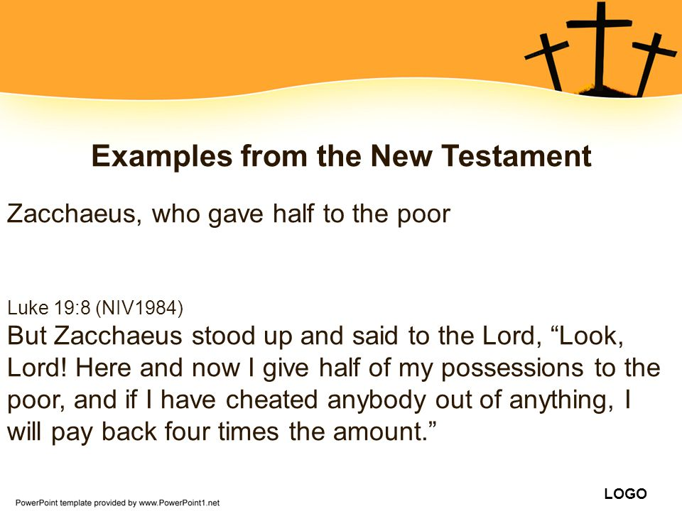 Examples from the New Testament