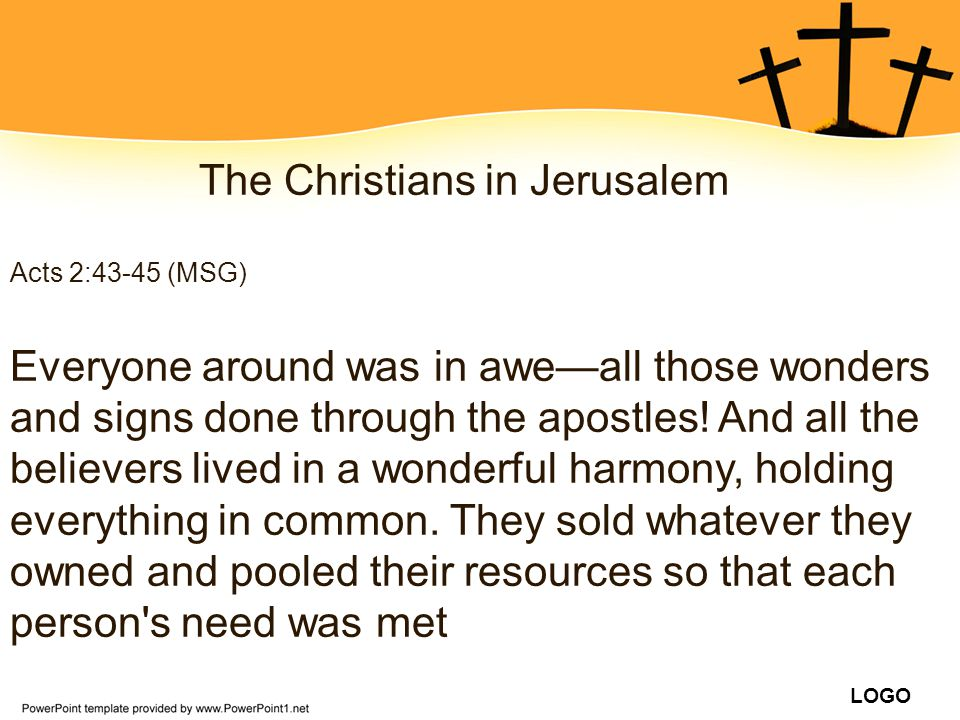 The Christians in Jerusalem