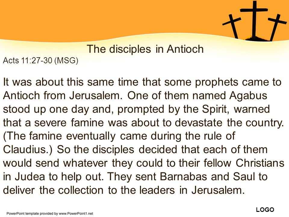 The disciples in Antioch