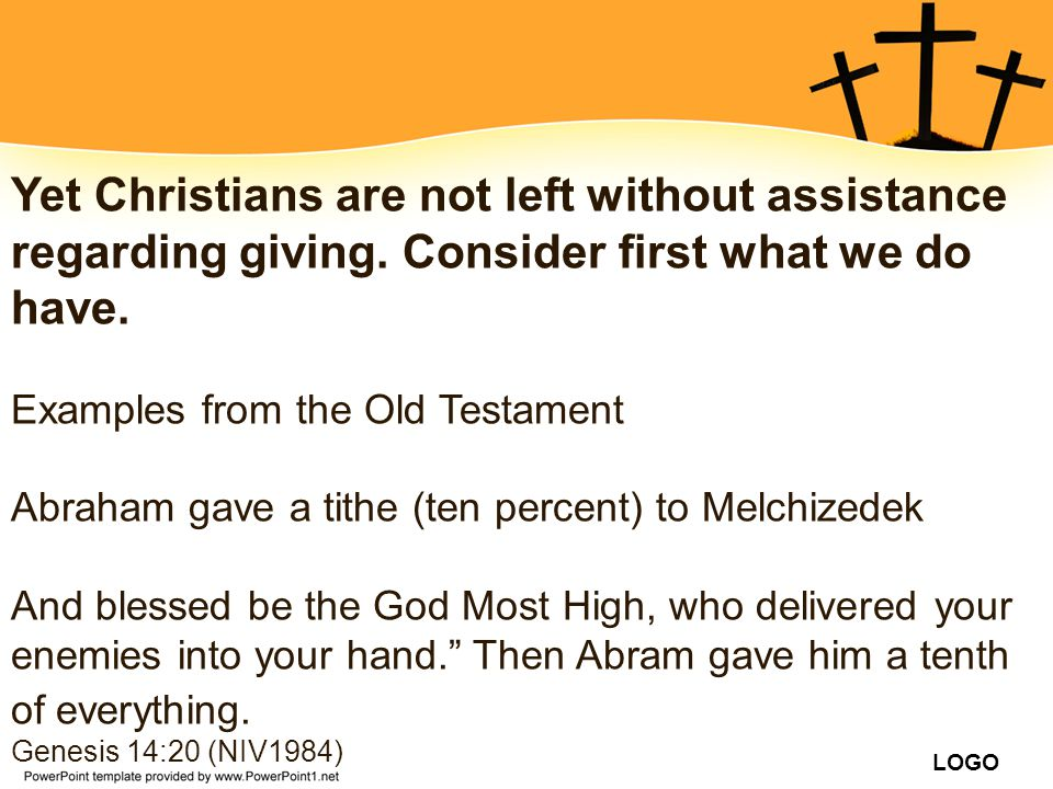 Yet Christians are not left without assistance regarding giving