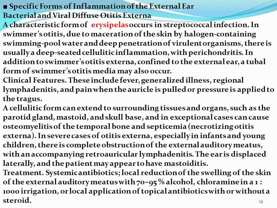 ■ Specific Forms of Inflammation of the External Ear
